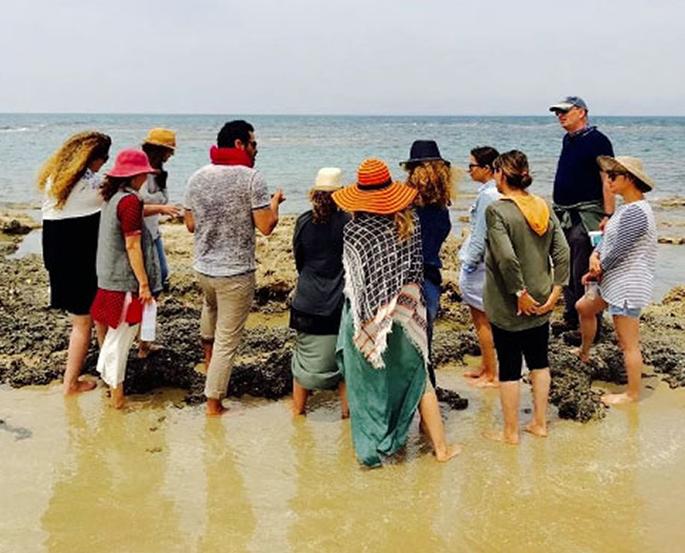 מפגש לימודי על שפת הים